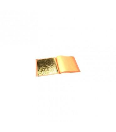 OR 22 Carats Alimentaire 50X50 mm le carnet de 5 feuilles