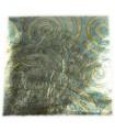 Cuivre oxydé spirales bleues var11 - 140x140mm Libre - Le carnet de 25 feuilles
